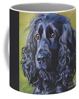 Coffee Mug featuring the painting Beautiful Black English Cocker Spaniel by Lee Ann Shepard
