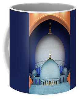 Beautiful Detail At Mosque, Abu Dhabi, United Arab Emirates Coffee Mug