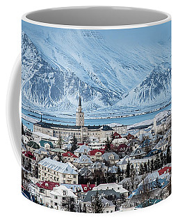 Beautiful Downtown Reykjavik, Iceland Coffee Mug
