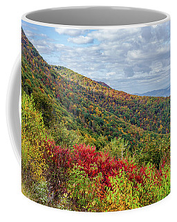 Coffee Mug featuring the photograph Beautiful Fall Foliage In The Blue Ridge Mountains by Lori Coleman