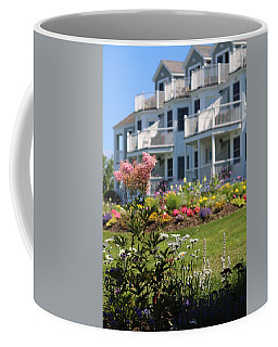 Beautiful Flowers At The Bar Harbor Inn Coffee Mug by Living Color Photography Lorraine Lynch