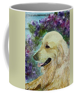 Coffee Mug featuring the painting Beautiful Golden by Claire Bull