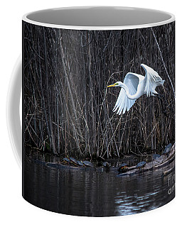 Beautiful Great White Egret Coffee Mug by Cheryl Baxter
