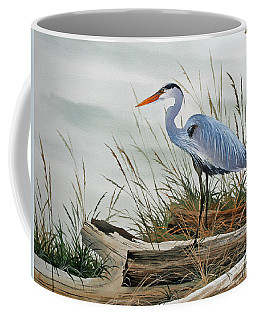 Beautiful Heron Shore Coffee Mug