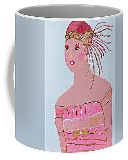 Coffee Mug featuring the painting Beautiful Lady by Magdalena Frohnsdorff