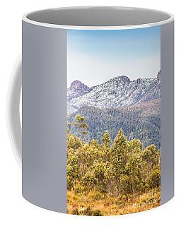Beautiful Landscape With Partly Snowed Mountain  Coffee Mug