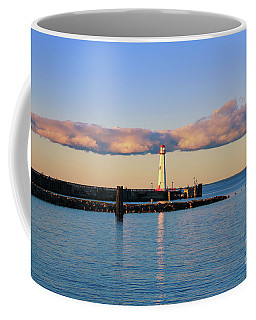 Coffee Mug featuring the photograph Beautiful Lighthouse Reflections by Rachel Cohen
