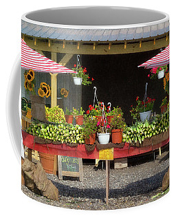 Coffee Mug featuring the photograph Beautiful Long Island Farm Stand by Ann Jacobson