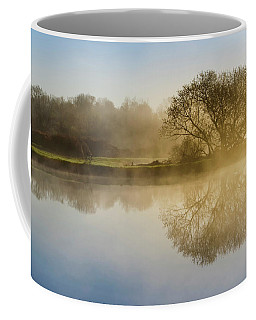 Coffee Mug featuring the photograph Beautiful Misty River Sunrise by Christina Rollo