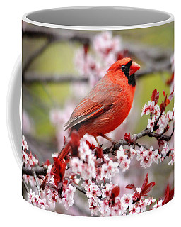 Beautiful Northern Cardinal Coffee Mug by Trina Ansel