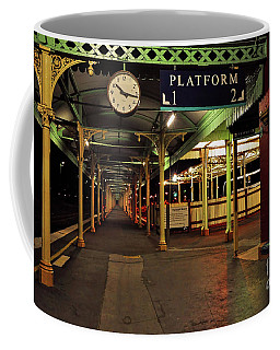 Coffee Mug featuring the photograph Beautiful Old Albury Station By Kaye Menner by Kaye Menner