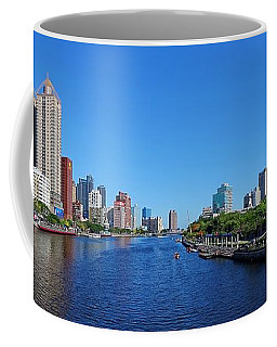 Coffee Mug featuring the photograph Beautiful Panorama Of The Love River In Taiwan by Yali Shi