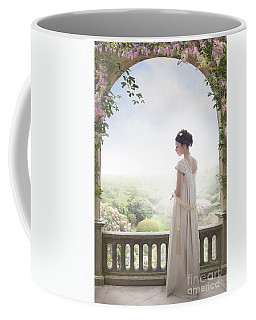 Beautiful Regency Woman Beneath A Wisteria Arch Coffee Mug