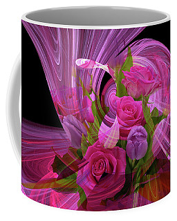 Beautiful Rose Bouquet Montage Coffee Mug