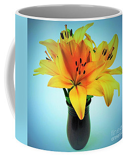 Coffee Mug featuring the photograph Beautiful Royal Lilies  by Ray Shrewsberry