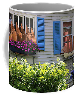 Coffee Mug featuring the photograph Beautiful Ship Flower Boxes 3 by Living Color Photography Lorraine Lynch