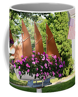 Coffee Mug featuring the photograph Beautiful Ship Flower Boxes 4 by Living Color Photography Lorraine Lynch