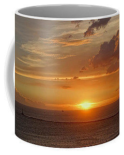 Coffee Mug featuring the photograph Beautiful Sunset At Kaohsiung Harbor by Yali Shi