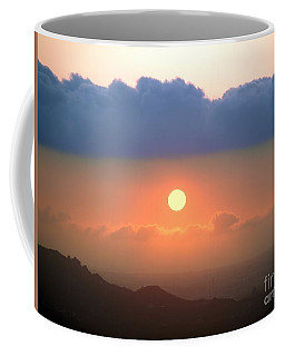 Beautiful Sunset With Low Clouds Coffee Mug