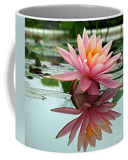 Beautiful Water Lily In A Pond Coffee Mug
