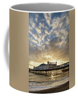 Beautiful Winter Sunset Landscape Of Brighton Pier On The South  Coffee Mug