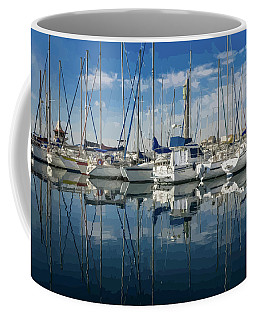 Beautiful Yachts Moored In The Marina Coffee Mug