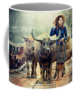 Beauty And The Water Buffalo Coffee Mug
