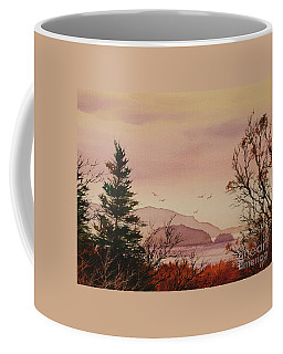 Coffee Mug featuring the painting Beauty At The Shore by James Williamson
