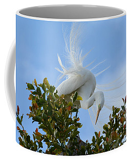 Coffee Mug featuring the photograph Beauty In The Treetop by Fraida Gutovich