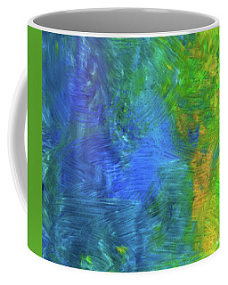 Coffee Mug featuring the mixed media Beauty by Karen Nicholson
