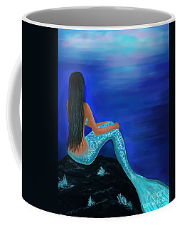 Coffee Mug featuring the painting Beauty Of The Isle by Leslie Allen