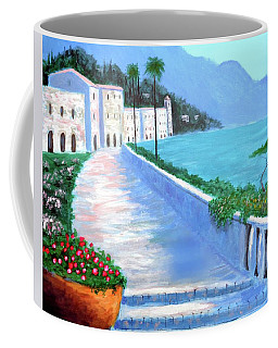 Coffee Mug featuring the painting Beauty Of The Riviera by Larry Cirigliano