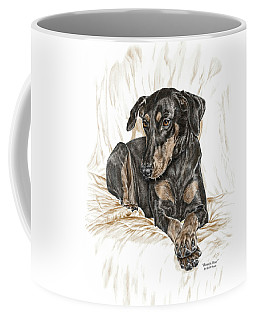Beauty Pose - Doberman Pinscher Dog With Natural Ears Coffee Mug