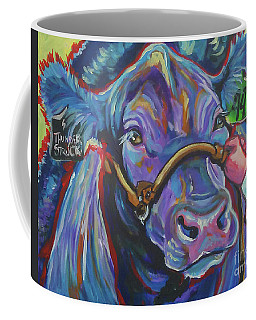 Coffee Mug featuring the painting Beauty Queen by Jenn Cunningham