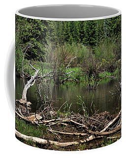Coffee Mug featuring the photograph Beaver Pond by Ron Cline