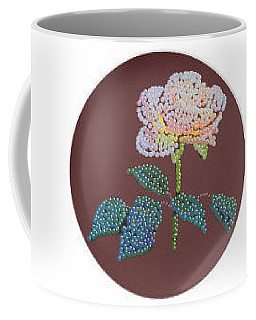 Bedazzed Rose Plate Coffee Mug
