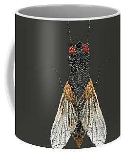 Bedazzled Housefly Transparent Background Coffee Mug