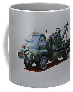 Coffee Mug featuring the painting Bedford Wrecker Afs by Mike Jeffries