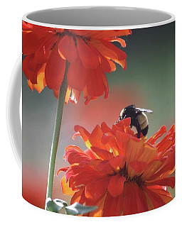 Coffee Mug featuring the photograph Bee And Flower I by Donna G Smith