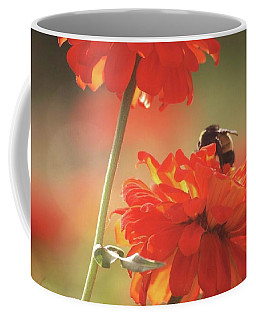 Coffee Mug featuring the photograph Bee And Flower II by Donna G Smith