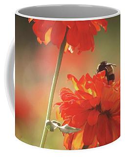 Bee And Flower II Coffee Mug by Donna G Smith