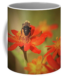 Coffee Mug featuring the photograph Bee And Flower IIi by Donna G Smith