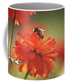 Coffee Mug featuring the photograph Bee And Flower Iv by Donna G Smith