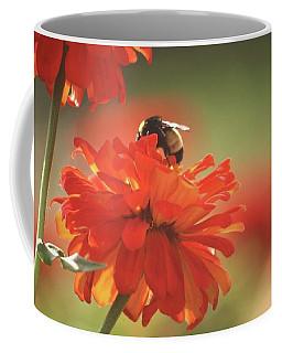 Bee And Flower Iv Coffee Mug