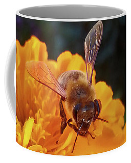 Bee And Marigold Coffee Mug