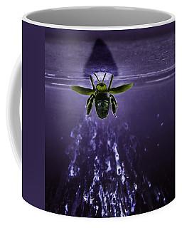 Bee Drilling Wood Coffee Mug