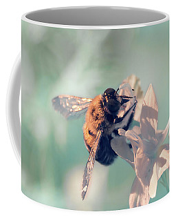 Coffee Mug featuring the photograph Bee Feeding In Infrared by Brian Hale