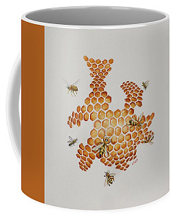 Bee Hive # 1 Coffee Mug by Katherine Young-Beck
