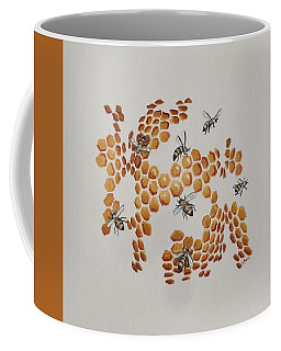 Coffee Mug featuring the painting Bee Hive # 2 by Katherine Young-Beck