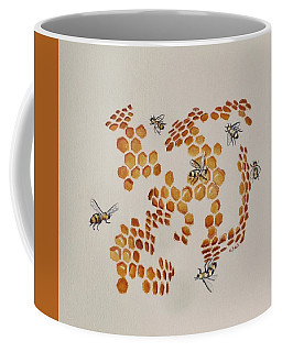 Bee Hive # 3 Coffee Mug by Katherine Young-Beck